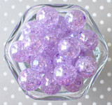 20mm Orchid purple AB crackle bubblegum beads