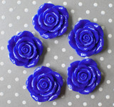 42mm Royal blue resin flower beads