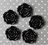 42mm Black resin flower beads