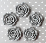42mm Grey resin flower beads