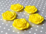 Yellow resin flower beads