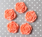42mm Apricot resin flower beads