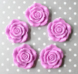 42mm Violet purple resin flower beads
