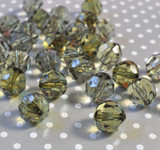 20mm Olive green faceted bubblegum beads