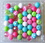 Color Pop shocking pink, turquoise, lime bubblegum bead wholesale kit
