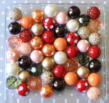 Autumn Leaves pumpkin, gold, cranberry bubblegum bead wholesale kit