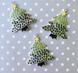 Christmas tree chunky rhinestone pendant