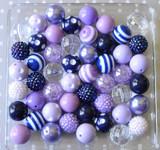 Navy and purple bubblegum bead wholesale kit