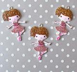 Ballerina girl chunky rhinestone pendant