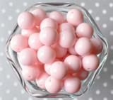16mm Light pink solid chunky bubblegum beads
