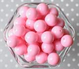 16mm Pink solid bubblegum beads