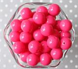 16mm Shocking pink solid bubblegum beads