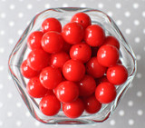 16mm Red solid bubblegum beads
