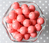 16mm Coral rose solid bubblegum beads