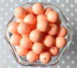 16mm Peach solid bubblegum beads