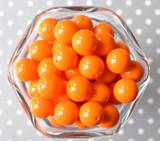 16mm Tangerine orange solid bubblegum beads