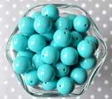 16mm Navajo turquoise solid bubblegum beads
