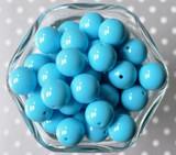 16mm Mystic blue solid bubblegum beads