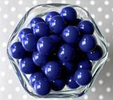 16mm Dark royal blue solid bubblegum beads