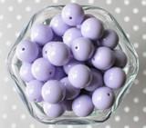 16mm Lavender purple solid bubblegum beads