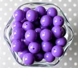 16mm Sugar plum purple solid bubblegum beads