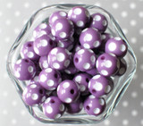 16mm Orchid purple polka dot bubblegum beads