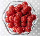 16mm Red rhinestone bubblegum beads