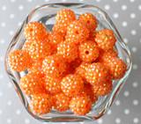 16mm Orange AB rhinestone bubblegum beads