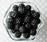 16mm Black rhinestone bubblegum beads