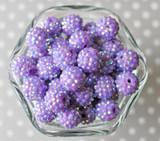 16mm Orchid purple AB rhinestone bubblegum beads