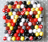 16mm California Vacation bubblegum bead mix