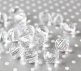 16mm Clear disco facet bubblegum beads