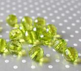 16mm Lime green disco facet bubblegum beads
