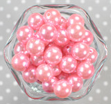 16mm Pink pearl bubblegum beads