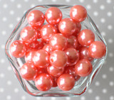16mm Coral rose pearl bubblegum beads