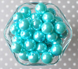 16mm Turquoise pearl bubblegum beads