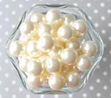 16mm Ivory pearl bubblegum beads