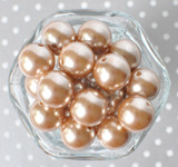 20mm Champagne pearl bubblegum beads for chunky necklaces