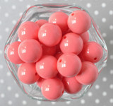 20mm Coral rose solid bubblegum beads
