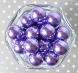 20mm Dark Orchid pearl bubblegum beads for chunky necklaces