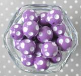 Dark Orchid polka dot bubblegum beads for children's jewelry