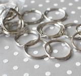 Large keyring split ring 25mm