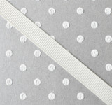 """3/8"""" Antique white solid grosgrain Offray"""