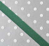 """3/8"""" Forest green solid grosgrain Offray"""