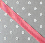 """3/8"""" Coral rose solid grosgrain Offray"""
