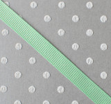 """3/8"""" Mint green solid grosgrain Offray"""