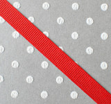 """3/8"""" Red solid grosgrain Offray"""