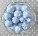 20mm Light blue polka dot bubblegum beads for children's jewelry