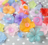 Lucite flower beads variety mix