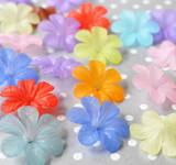 33mm Six petal lucite flower beads